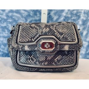 Coach Campbell Camera Bag Python Print Leather!